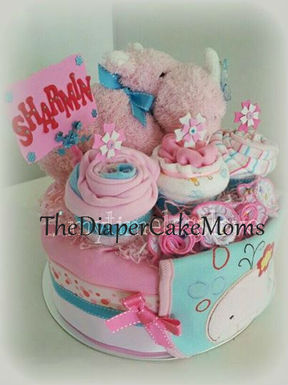 Motorcycle Diaper Cake With Dishwasher Basket